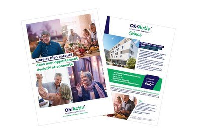 brochure plaquette commerciale residence senior Oh ! Activ'