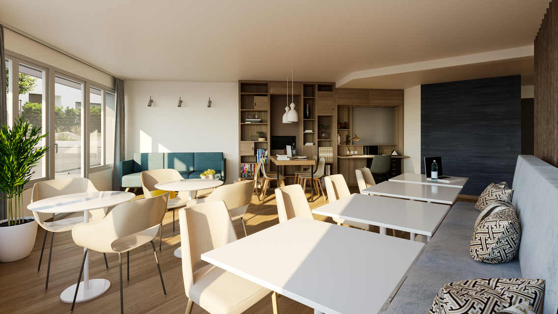 residence senior Oh Activ salle restaurant coworking gamme access