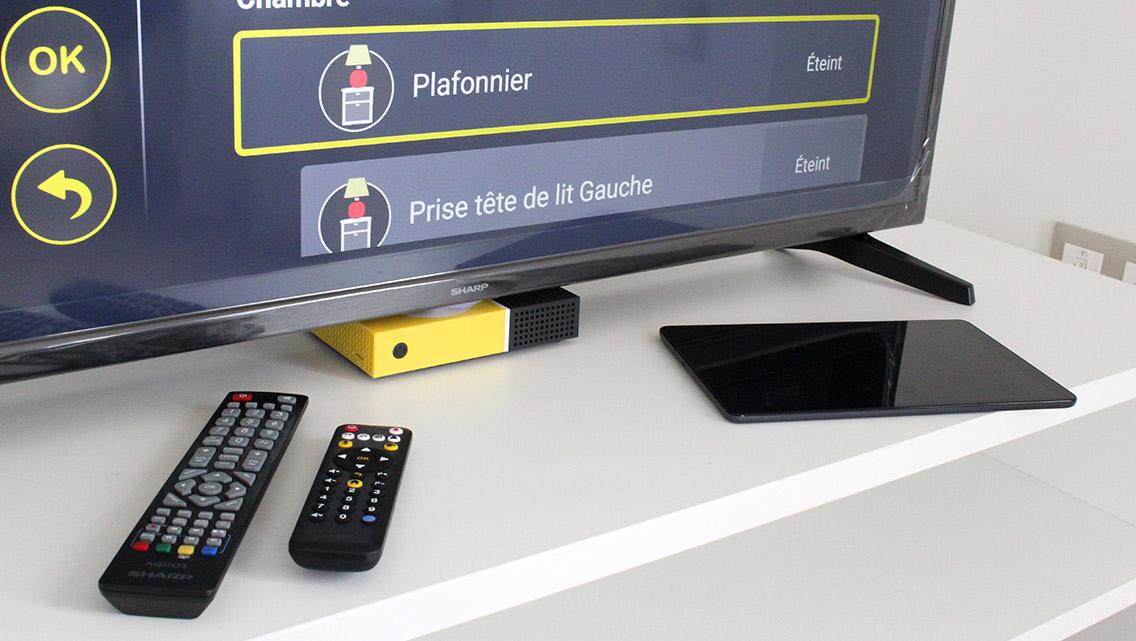 Domotique connectée, internet wifi, box TV et tablette tactile